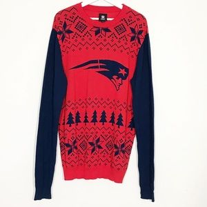 NFL New England Patriots Ugly Christmas Sweater L